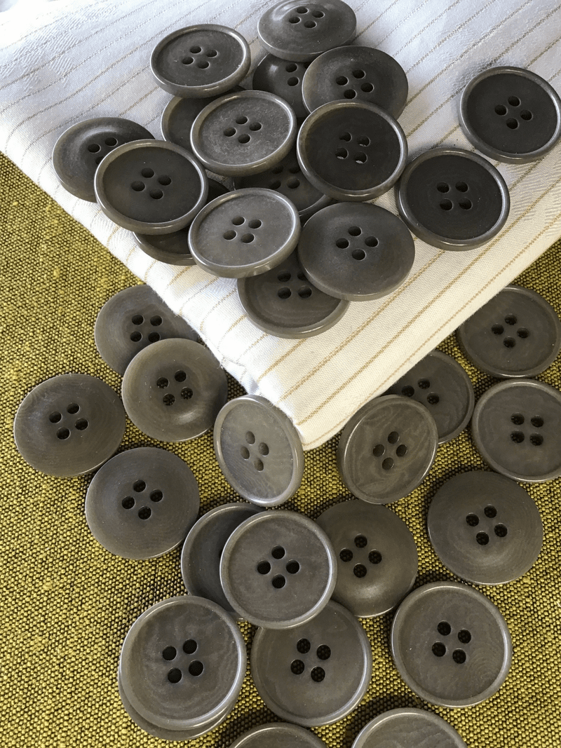 """Coroso Button 4 Hole Taupe Button 3/4"""" (19mm) 30L Sewing Buttons #742"""