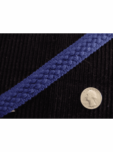 Decorative Blue Braid Trim Made in Italy Vintage Braided Upholstery Trim
