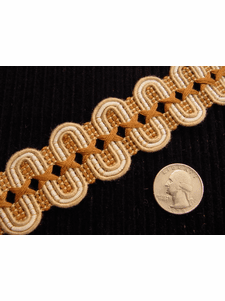 Fancy Scroll Gimp Decorative Braid Trim Made in Italy Vintage Braided Upholstery Trim