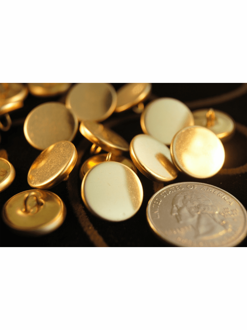 """Gold Metal Shank Vintage Buttons 5/8"""" inch (12 pcs)"""
