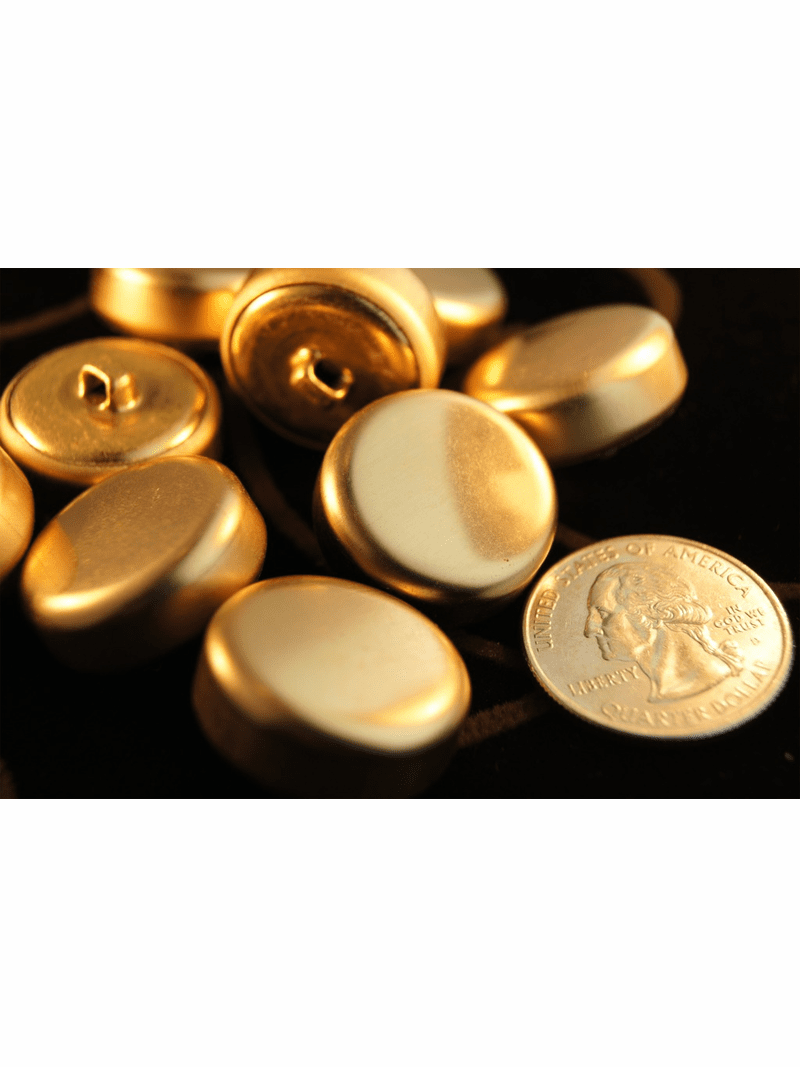 """Gold Metal Shank Vintage Buttons 7/8"""" inch (10 pcs)"""