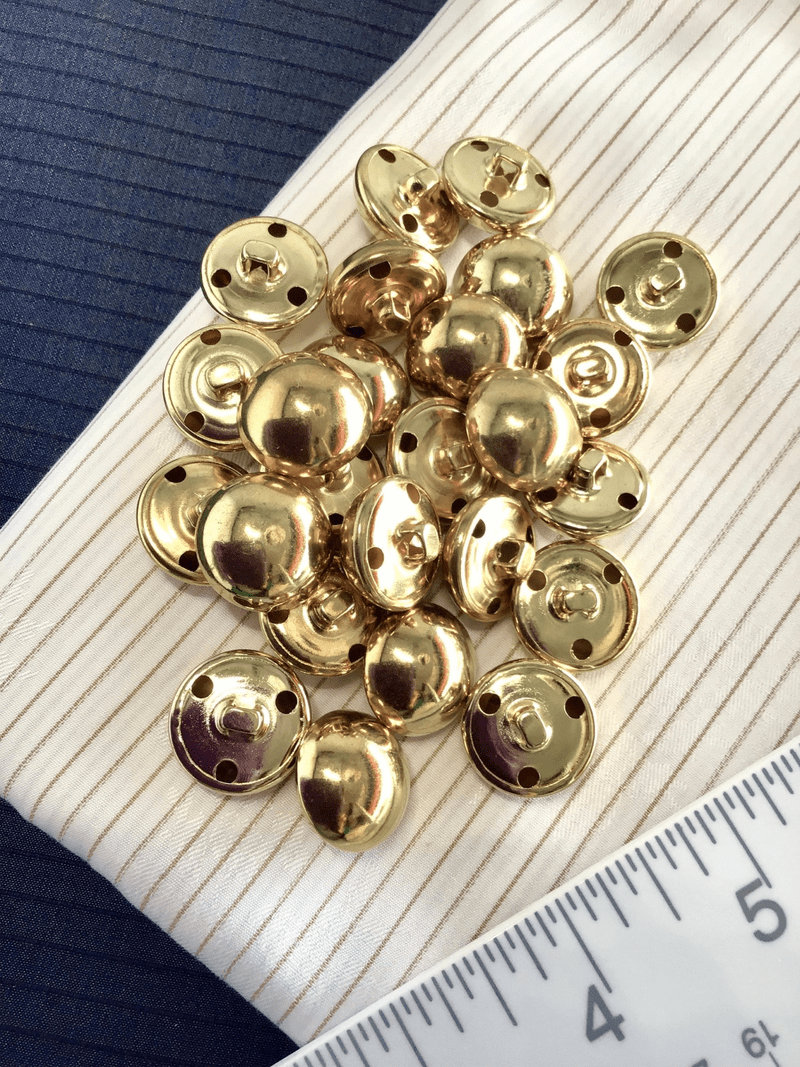 "Gold Metal Vintage Dome 3/4"" (19mm) 30L Buttons #971"