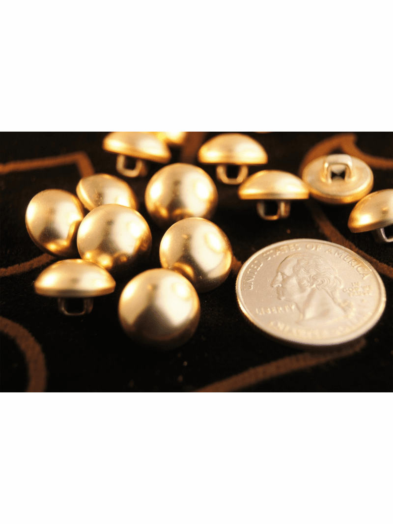 """Gold Metal Vintage Shank Dome Buttons 1/2"""" inch (10 pcs)"""