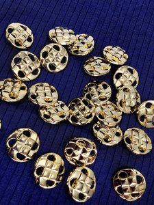 "Gold Metallic Designer Vintage Shank 1"" (25mm) 40L Buttons #1006"