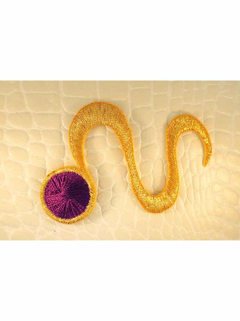 Gold Metallic Purple Iron-On Designer Applique #appliques-10