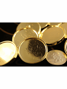 """Gold Plastic Shank Buttons 1 3/8"""" inch (12 pcs)"""