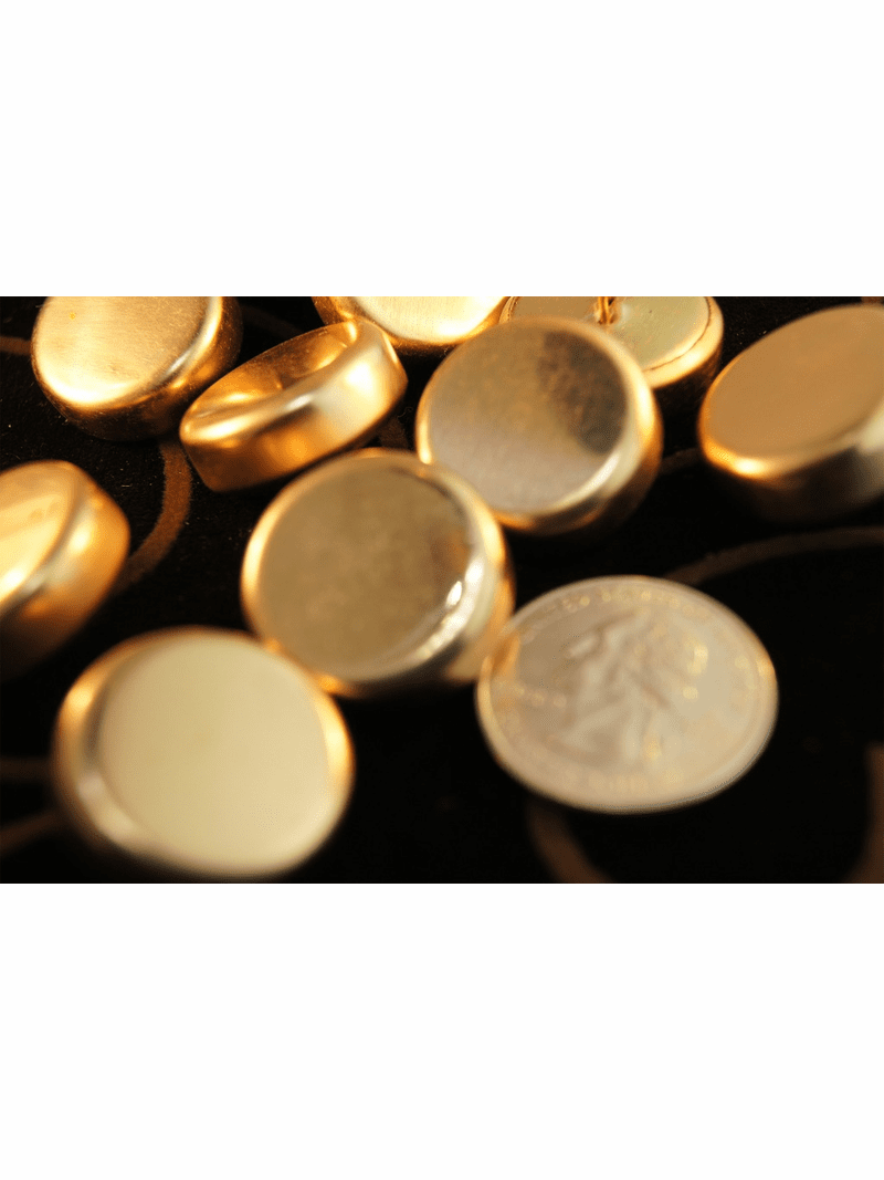 """Gold Shank Vintage Metal Buttons 7/8"""" inch (10 pcs)"""