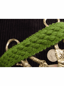 Green Braid Trim Made in Italy Vintage Braided Upholstery Trim