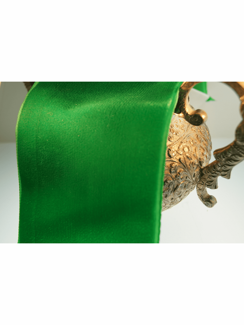 Green French Wide Velvet Ribbon 72mm
