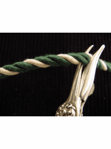 Green Vintage White Twisted Cord Trim