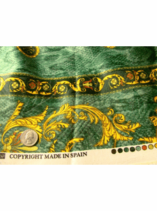 Home Decorating Prints Sunset Gold, Green Drapery Fabric # K-426