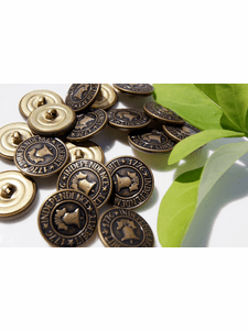"""Independence 1776 Liberty Vintage Embossed Metal Buttons 7/8"""" inch (8 pcs)"""