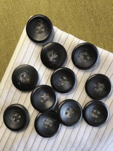 """Italian Black Grey 4 Hole Button 13/16"""" (20mm) 32L Sewing Buttons #756"""