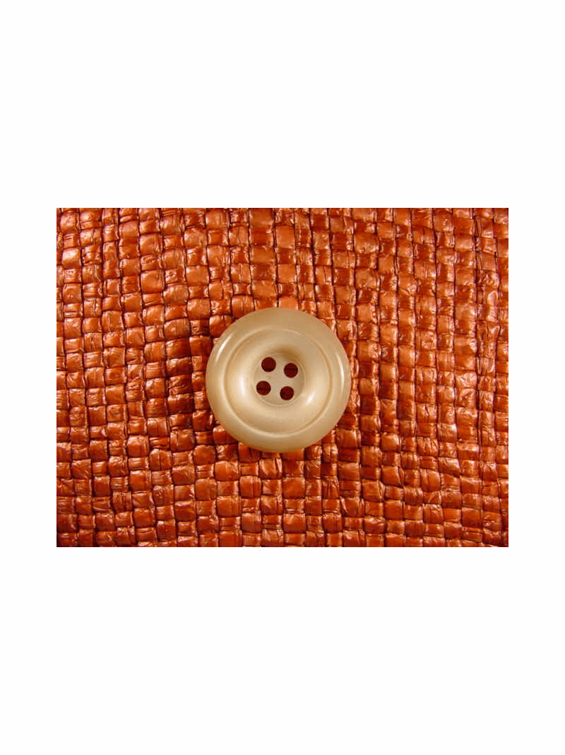 "Italian Buttons Wholesale (48pcs) 3/4"" Tan Khaki 4 Hole Sewing Button"
