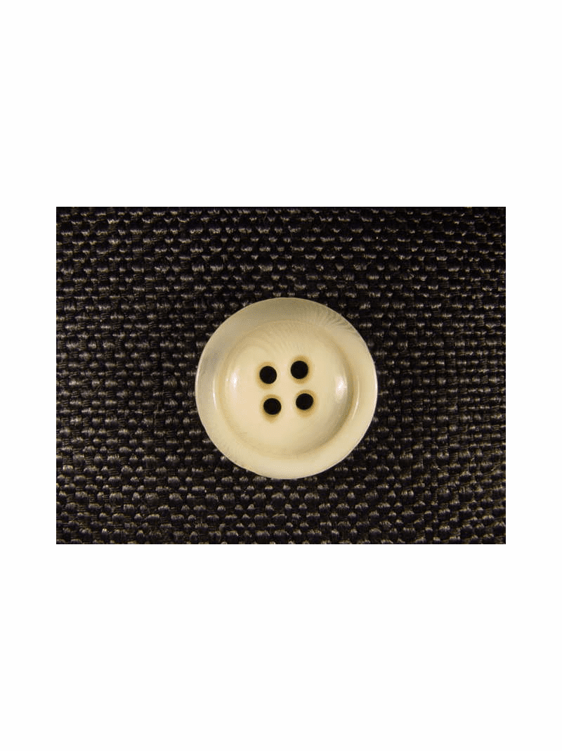 """Italian Buttons Wholesale (65pcs) 7/8"""" Off White 4 Hole Semi Clear Textured Button"""