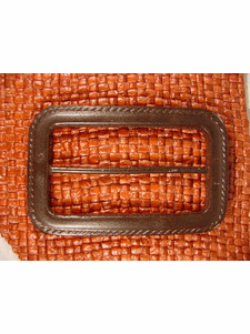 Italian Coat Buttons Wholesale (10pcs) Designer Buckles 2 5/8 inches X 1 5/8 inches Dark Brown #bag-331