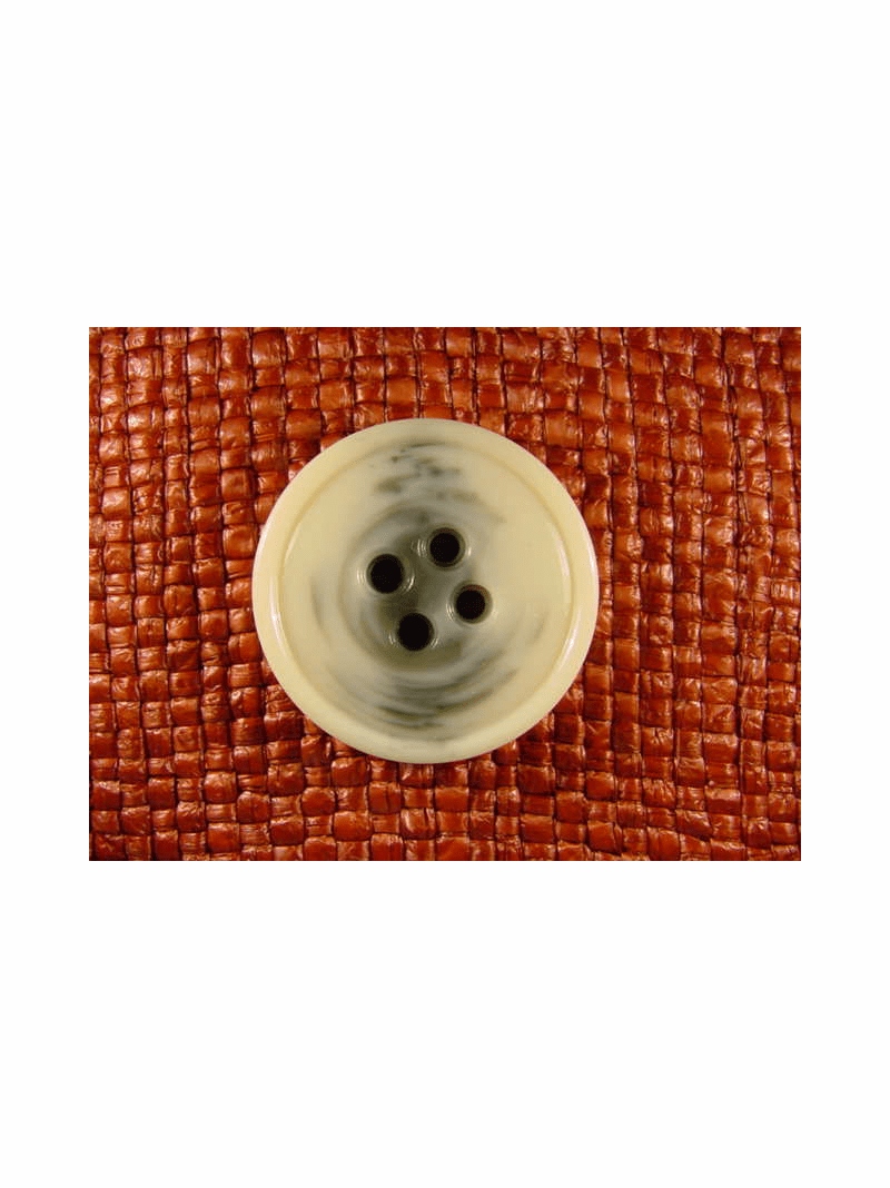 "Italian Coat Buttons Wholesale (24pcs) 1-1/4"" Gray Cream Textured 4 Hole Button"