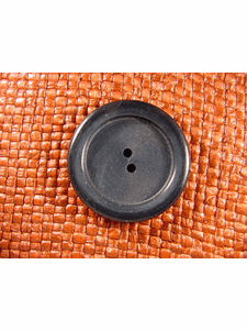 """Italian Coat Buttons Wholesale (24pcs) 1-3/8"""" Dark Navy 2 Hole Big Sewing Button"""