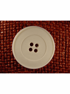 """Italian Coat Buttons Wholesale (24pcs) 1-3/8"""" Off White 4 Hole Big Sewing Button"""