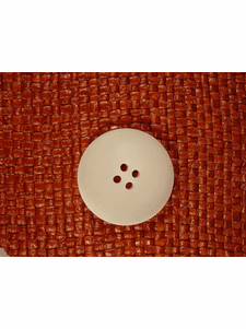 Italian Coat Buttons Wholesale (24pcs) Italian 4 hole Buttons 1 1/4 inches Off White #bag-322