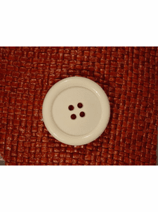Italian Coat Buttons Wholesale (24pcs) Italian 4 hole Buttons 1 3/8 inches Off White #bag-328