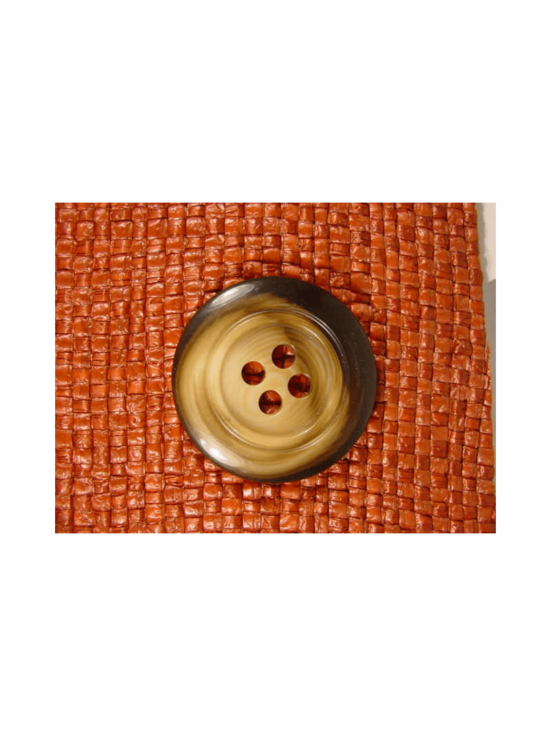 Italian Coat Buttons Wholesale (24pcs) Italian Designer 4 hole Buttons 1 3/8 inches Brown #bag-310