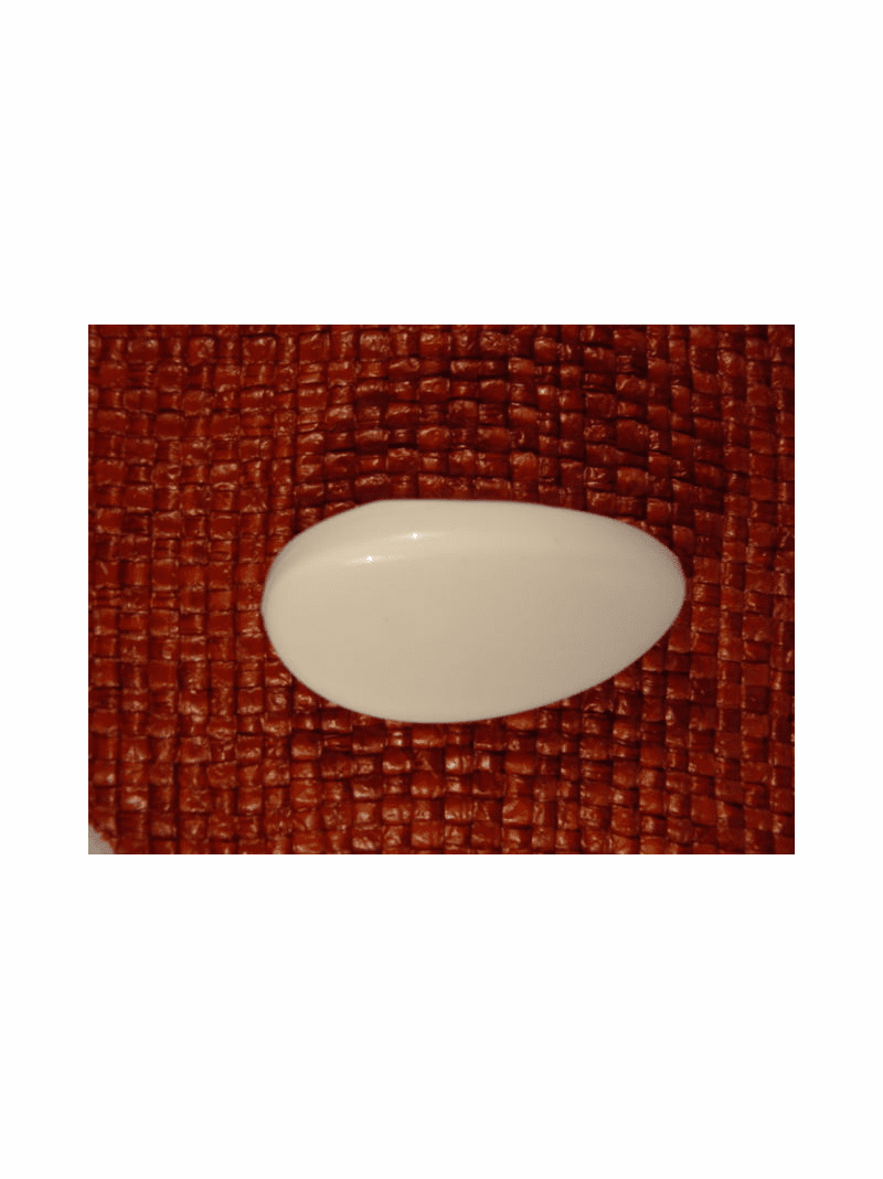 Italian Coat Buttons Wholesale (24pcs) Italian Shank Buttons 1 inch X 1 3/4 inches White #bag-273