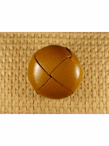 Italian Coat Buttons Wholesale (25pcs) Leather Shank Buttons 1 1/8 inch Brown #bag-76