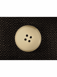 """Italian Coat Buttons Wholesale (35pcs) 1"""" Off White 4 Hole Sewing Button"""
