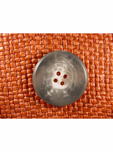 """Italian Coat Buttons Wholesale (36pcs) 1-1/4"""" Multi Grey Textured 4 Hole Big Sewing Button"""