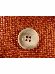 """Italian Coat Buttons Wholesale (36pcs) 1"""" Clear White Textured 4 Hole Sewing Button"""