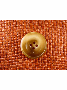 """Italian Coat Buttons Wholesale (36pcs) 1"""" Honey Brown 4 Hole Sewing Button"""