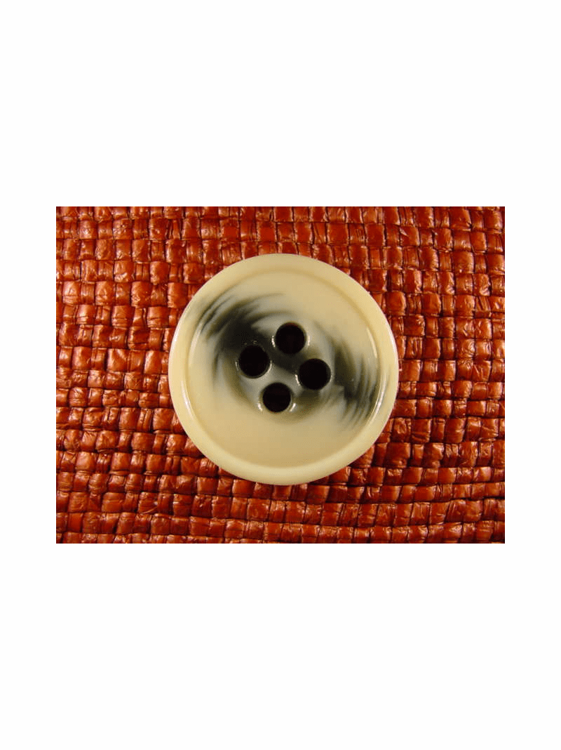 Italian Coat Buttons Wholesale (36pcs) 4 holes Designer Buttons 1 1/4 inches Gray Off White #bag-354