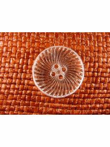 Italian Coat Buttons Wholesale (36pcs) 4 holes Italian Buttons 1 1/8 inches Crystal Clear #bag-356