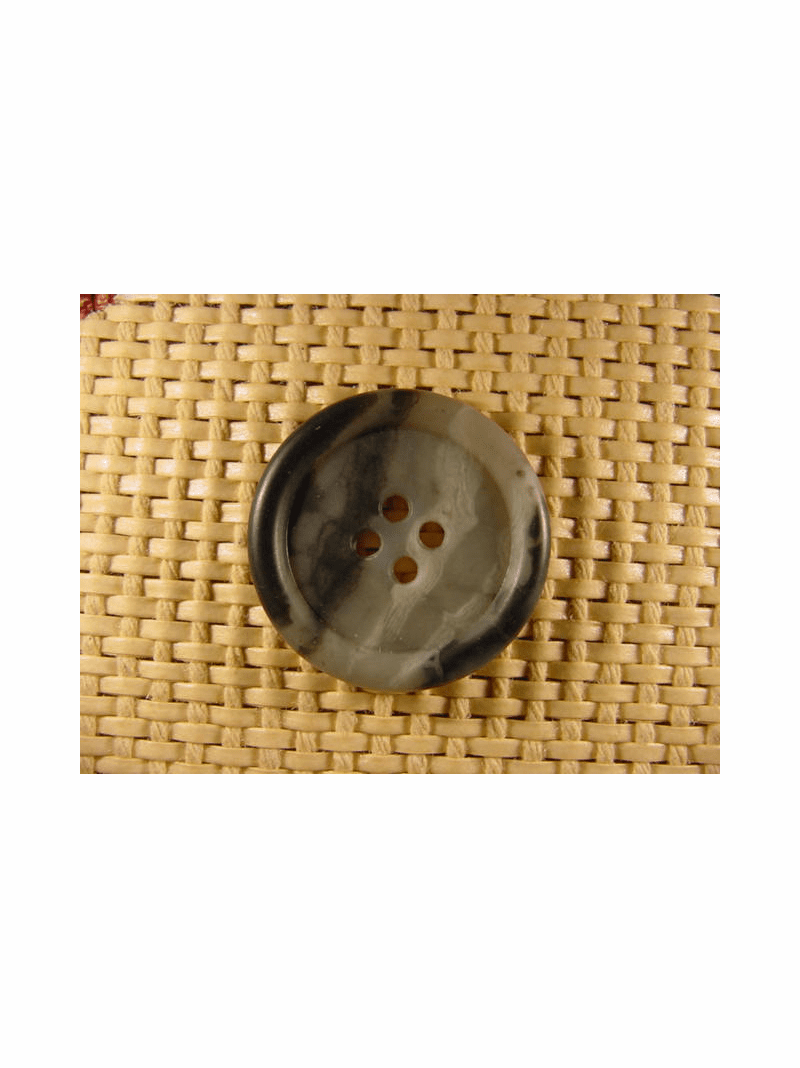 Italian Coat Buttons Wholesale (36pcs) 4 holes Italian Buttons 1 1/8 inches Multi Grey #bag-265