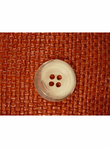 Italian Coat Buttons Wholesale (36pcs) Designer 4 hole Buttons from Italy 1 1/8 inches Clear Off White #bag-298