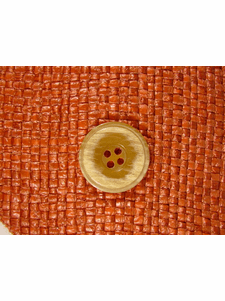 Italian Coat Buttons Wholesale (36pcs) Designer 4 hole Buttons from Italy 7/8 inch Caramel #bag-282