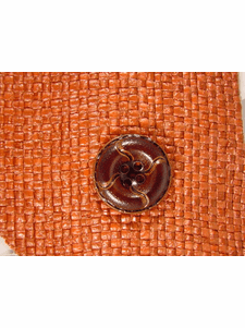 Italian Coat Buttons Wholesale (36pcs) Designer 4 hole Buttons from Japan 1 inch Dark Brown #bag-324