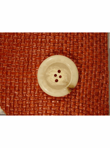 Italian Coat Buttons Wholesale (36pcs) Designer 4 holes Buttons from Italy 1 1/4 inches Off White #bag-327