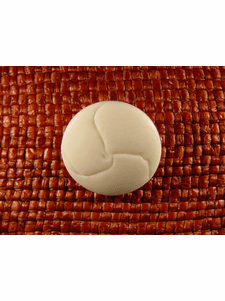 Italian Coat Buttons Wholesale (36pcs) Shank Buttons 1 inch Off White #bag-253