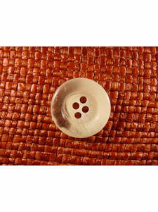 Italian Coat Buttons Wholesale (48pcs) 4 holes Italian Buttons 7/8 inch Clear Off White #bag-340