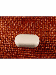 Italian Coat Buttons Wholesale (48pcs Shank Buttons 1 1/8 inches X 5/8 inch White #bag-374