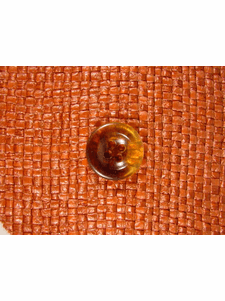 Italian Coat Buttons Wholesale (72pcs) Clear 4 hole Buttons 3/4 inch Golden Brown #bag-280