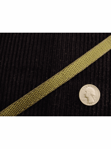 Italian Green Woven Trim Made in Italy Vintage Drapery Trim
