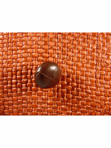"""Italian Leather Buttons Wholesale (36pcs) 5/8"""" Braided Leather Brown Shank Button"""