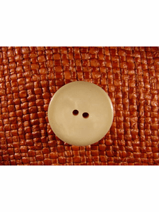 """Italian Thick Coat Buttons Wholesale (36pcs) 1"""" Beige 2 Hole Sewing Button"""