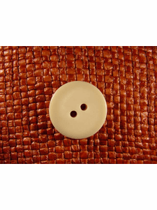 """Italian Thick Coat Buttons Wholesale (36pcs) 7/8"""" Off White 2 Hole Sewing Button"""
