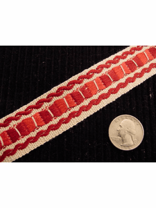 Italian Woven Trim Made in Italy Vintage Drapery Trim