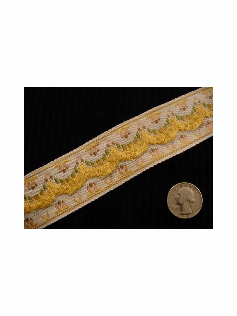 Italian Woven Trim Made in Italy Vintage Fancy Loop Decorative Trim