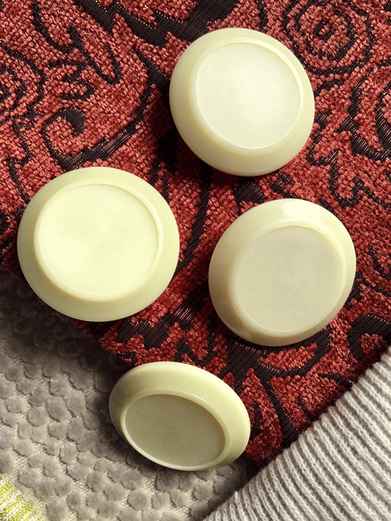 "Ivory Cream Vintage Shank 1-1/2"" (38mm) 60L Italian Coat Buttons #561"